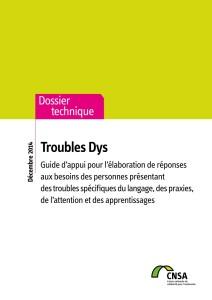 Guide pour MDPH troubles dys